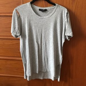 All Saints t-shirt with shoulder cut-outs